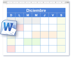 Plantilla Calendario - Calendario En Blanco y Para Imprimir en ...