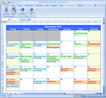 Google Calendar as Monthly Calendar
