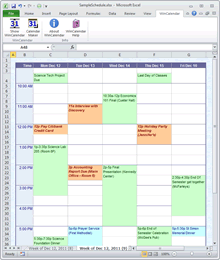 Outlook Calendar to Schedule in Excel