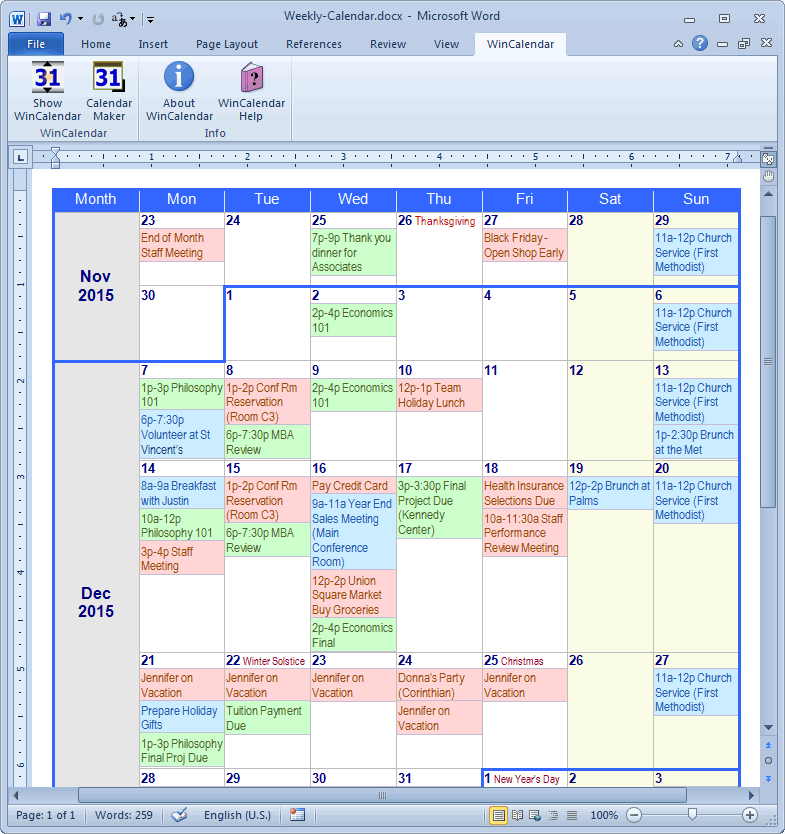 Beautiful Fieldstation.co Regarding Microsoft Word Weekly Calendar