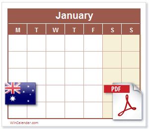 Calendar PDF Australia
