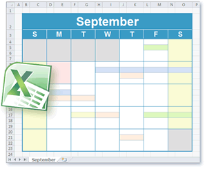Monthly schedule planner template