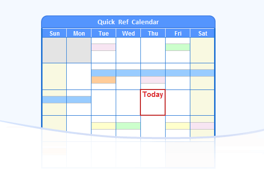 Wincalendar calendar maker word excel pdf calendar for Color coded calendar template