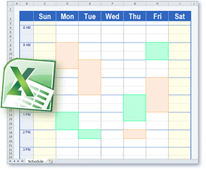 Schedule Templates in Excel Format