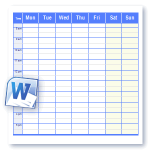 scheduling worksheets