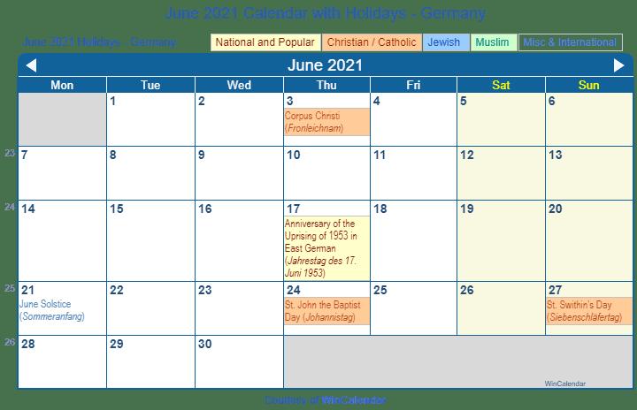 St Johns Calendar 2021 | Printable March