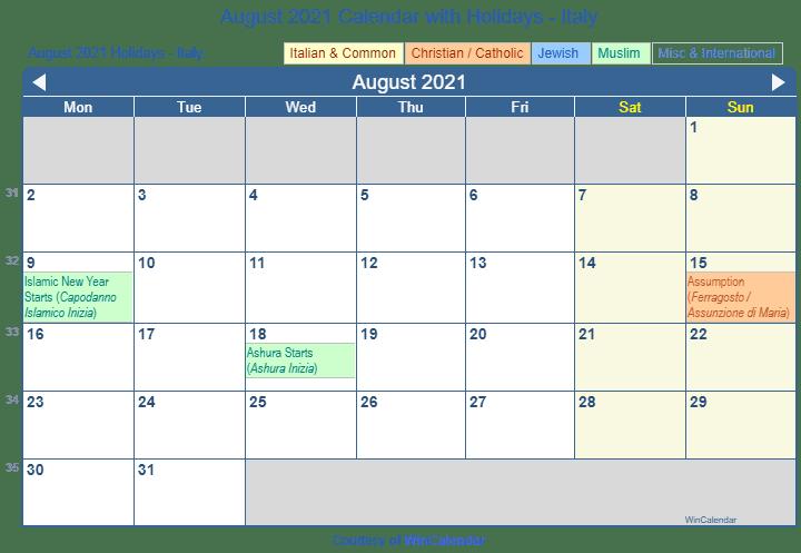 Win Calendar August 2021 Wallpaper