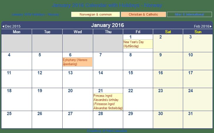 Calendar Norway : Print friendly january norway calendar for printing