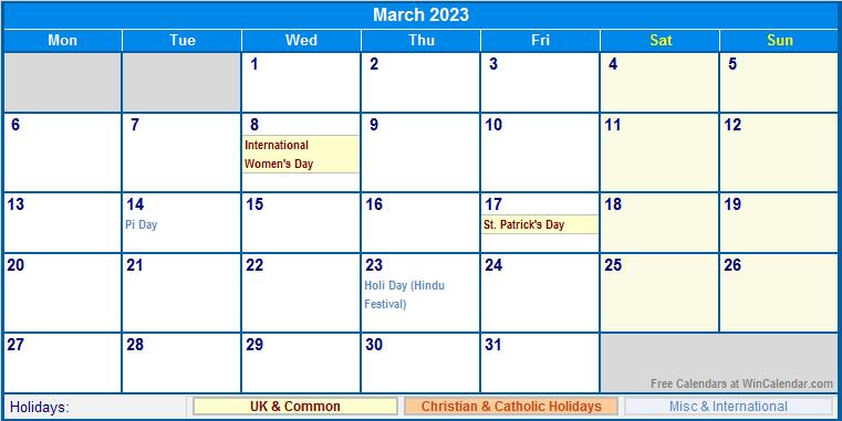 March 2018 Calendar Printable Win