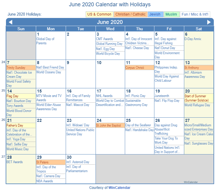 March Calendar 2018 With Holidays