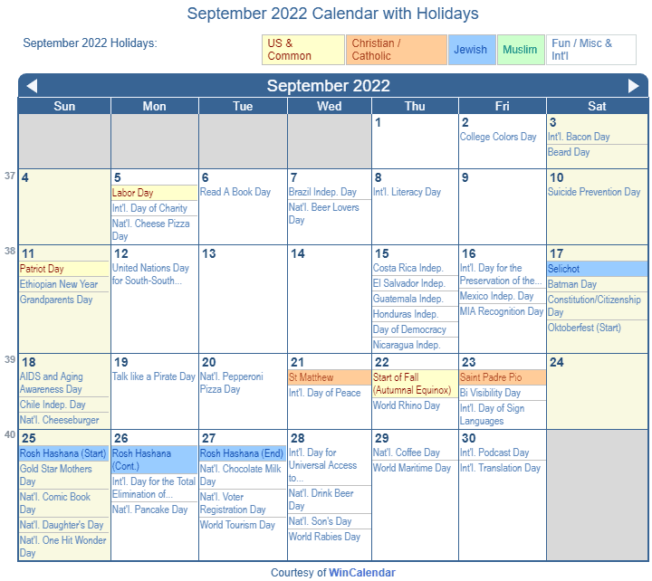 Calendar September 2022.Print Friendly September 2022 Us Calendar For Printing