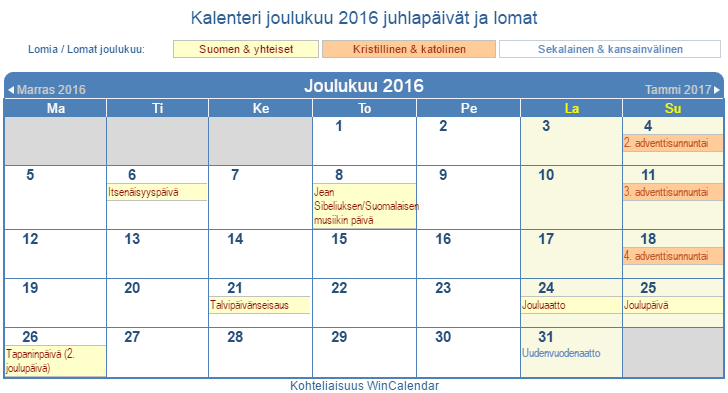 Suomi Kalenteri