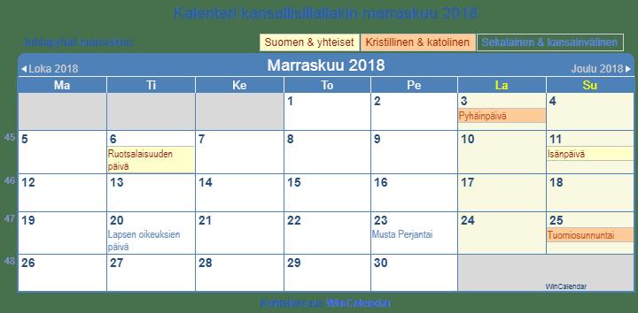 Marraskuu Kalenteri