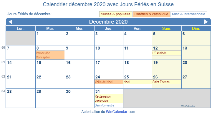 Calendrier Decembre 2020.Calendrier Pour L Impression Decembre 2020