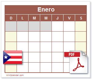 Calendario Pdf 2020 Con Dias Feriados Puerto Rico